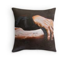 Portrait of Leon Greenman 1910-2008 Throw Pillow