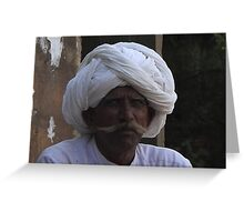 Rajastani gentleman Greeting Card