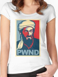 PWND - Osama Bin Laden Women's Fitted Scoop T-Shirt