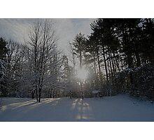 Scenic winter Photographic Print