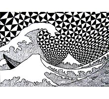 142 - VARIATION ON HOKUSAI'S WAVES (INK - 1987) Photographic Print