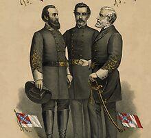 Generals Jackson, Beauregard, and Lee  by warishellstore