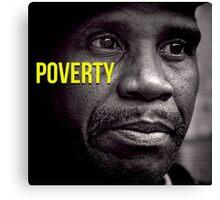 Beautifull Black & White Portrait Homeless Poverty  Canvas Print