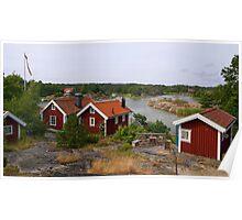 Archipelago village. Poster