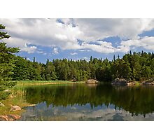 Idyllic lake in summer. Photographic Print