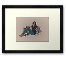 Flowers & Harry Framed Print