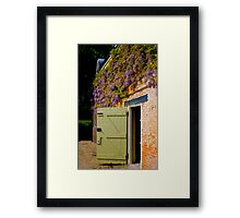 Wisteria over the stable door Framed Print