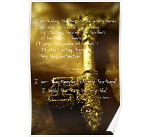 Affirmation - Holding the Key of Life Poster