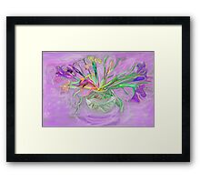 Lavender Orchids Painting Framed Print