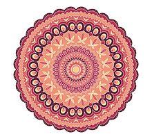 Passion Mandala Photographic Print