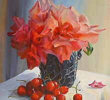 ROSES and CHERRIES by Beatrice Cloake Pasquier