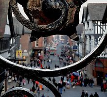 Eastgate Clock Bridge, Chester by electrocub