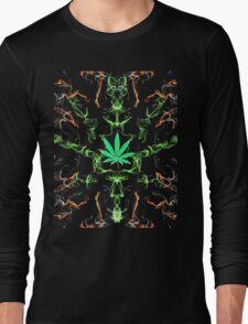 Marijuana Leaf Psychedelic pattern Long Sleeve T-Shirt