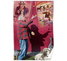 Juggler's shadow Poster