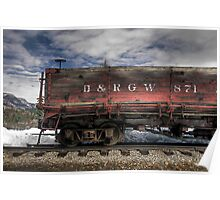 Abandoned Boxcar Poster