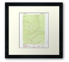 USGS Topo Map Oregon Red Blanket Mountain 281236 1985 24000 Framed Print