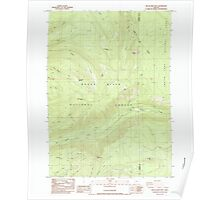 USGS Topo Map Oregon Red Blanket Mountain 281236 1985 24000 Poster
