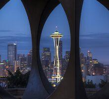 Seattle Skyline At Dawn, #2 by flyingdogNM