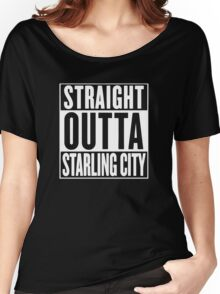 Straight Outta Starling City – Arrow, Compton Parody Women's Relaxed Fit T-Shirt