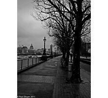 Thames Embankment London Photographic Print