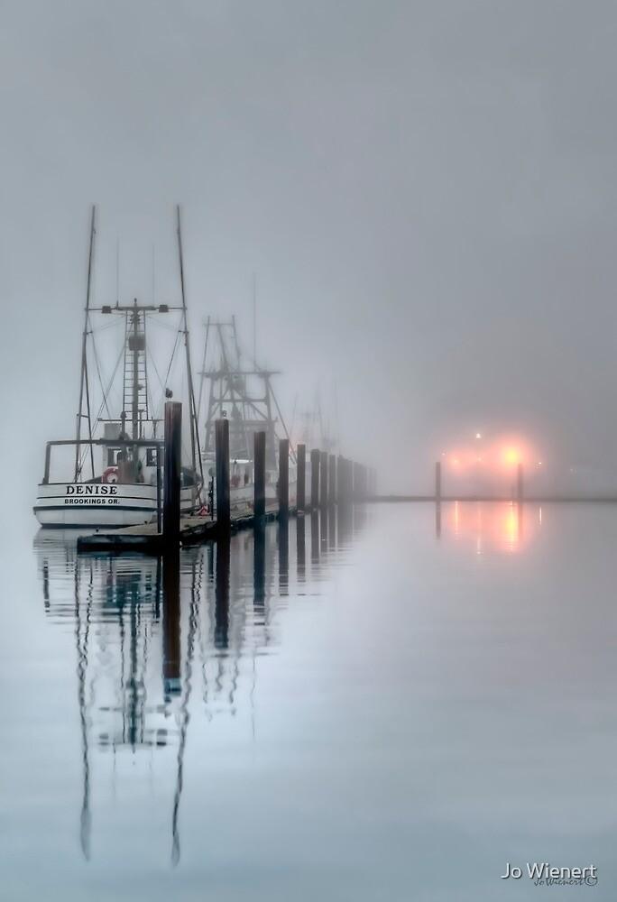 Boats in Fog by Jo Wienert