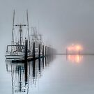 Boats in Fog by Jo Wienert