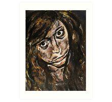 Acrylic portrait - Influenced by Surrealism. Art Print