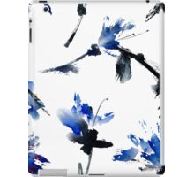 Blue flowers iPad Case/Skin