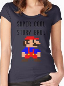 Super Cool Story Bro. (Mario) Women's Fitted Scoop T-Shirt