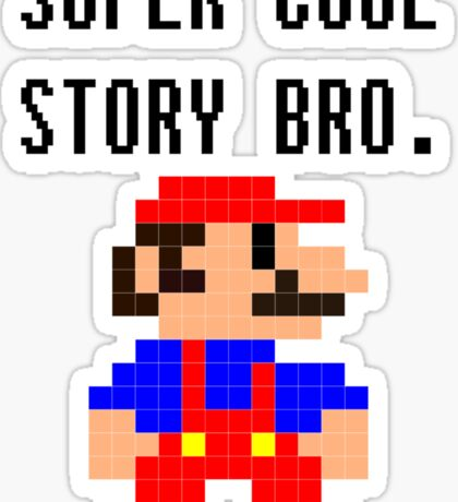 Super Cool Story Bro. (Mario) Sticker