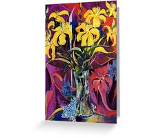 Golden flowers Greeting Card