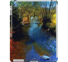 Vibrant river in autumn season iPad Case/Skin