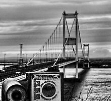 Old Severn Crossing, toward Wales by buttonpresser