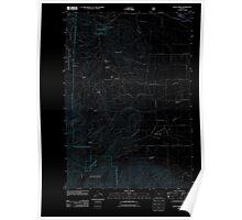 USGS Topo Map Oregon Rock Creek 20110801 TM Inverted Poster