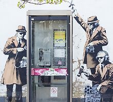 """We are Listening"" Banksy by Theresa Selley"