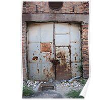 Old metal door Poster