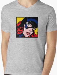Girl Power: Batgirl Mens V-Neck T-Shirt