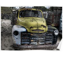 Yellow Chevy Truck Poster