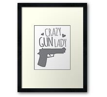 Crazy Gun Lady Framed Print