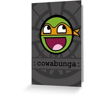 Cowabunga Buddy Squad: Michelangelo Greeting Card
