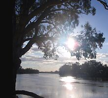 Sunset on the Murray by KazM