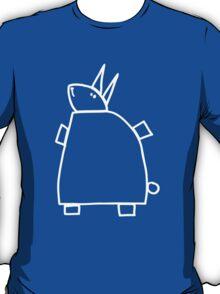 The green rabbit (outline white) T-Shirt