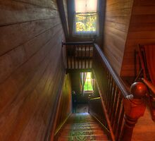 Upstairs , Downstairs - Craigmoor House c1875 - Hill End , NSW by Philip Johnson