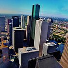 Downtown Houston Texas by Monte Roberts