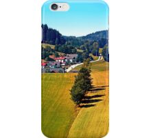 A village, some trees, and more boring scenery iPhone Case/Skin