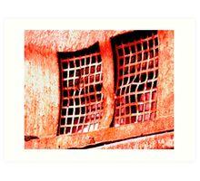 red grate Art Print