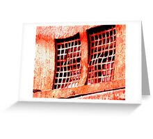 red grate Greeting Card