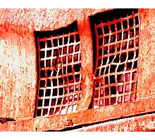 red grate Photographic Print