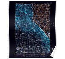 USGS Topo Map Oregon Hillsboro 282579 1915 62500 Inverted Poster