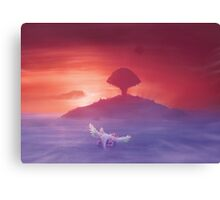 Flying to Pure land (4 left!) Canvas Print